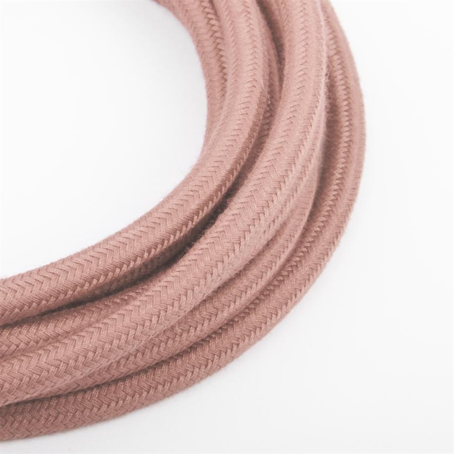 Meget Dusty sart rosa stofledning - meter DX52