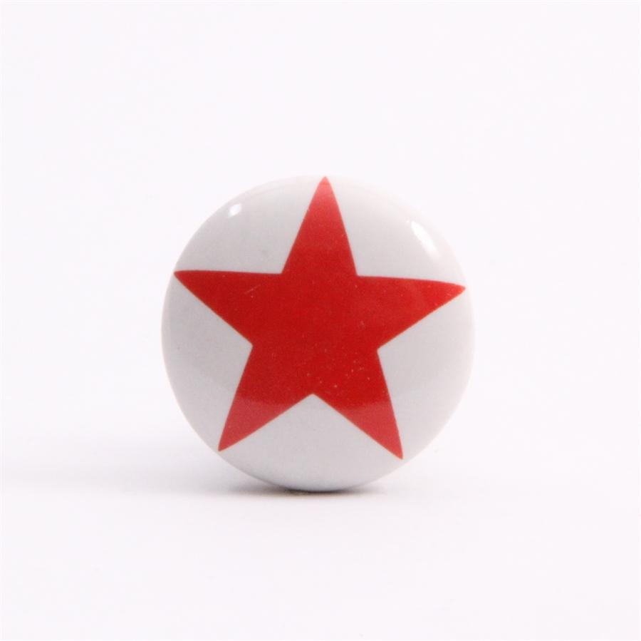 Knop med rød stjerne