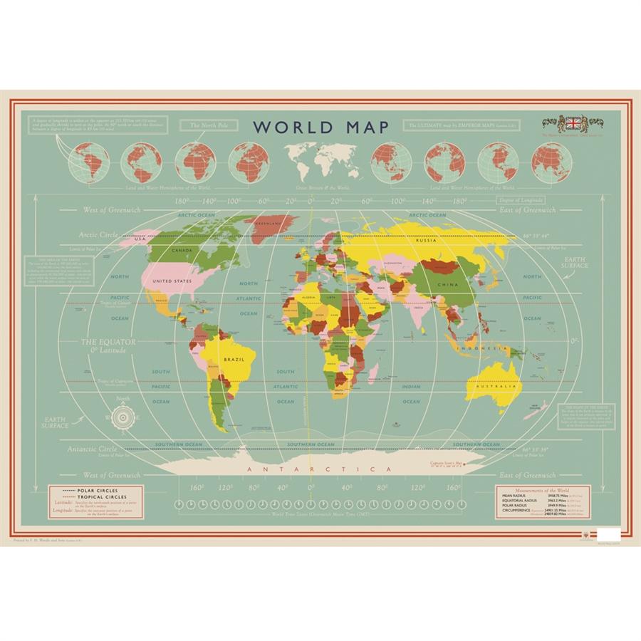 plakat verdenskort