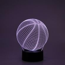 3D LED Acrylplade lampe Basketball