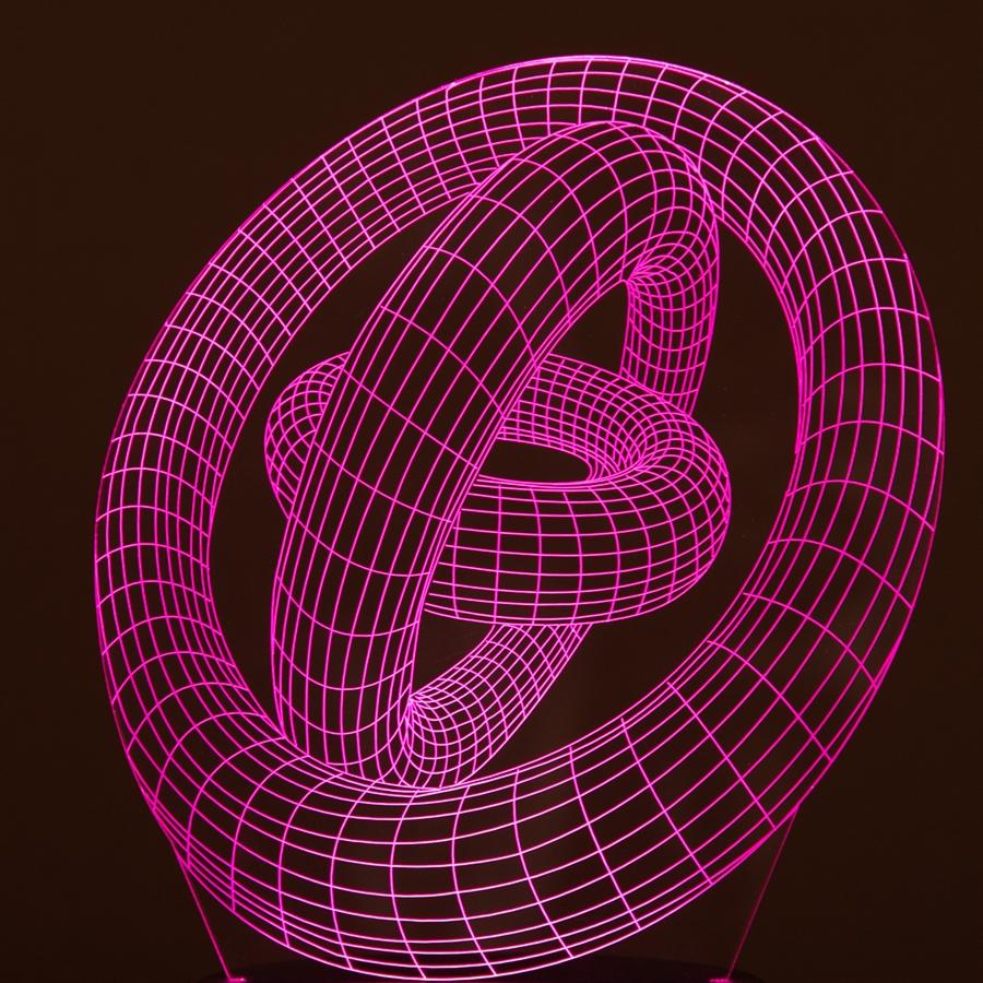 Plade til 3d led lampe ringe parisarafo Choice Image