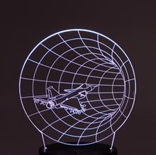 Plade til 3D LED lampe Tunnel fly